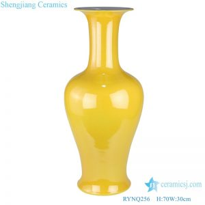Color glaze yelllow chinese  ceramic vase