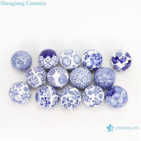 Round float ball jingdezhen blue and white ball