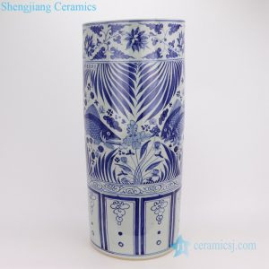 Jingdezhen archaize umbrella stand fish pattern