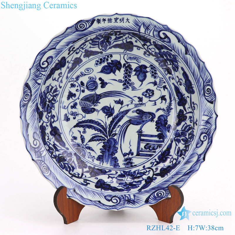Character and landscape decor hand pating plate