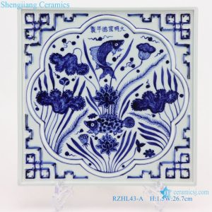 Hand-carved square tea tray archaize artworks