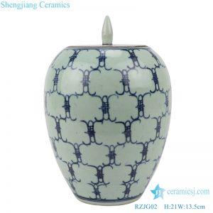 Archaize yongzheng longevity storage pot front view