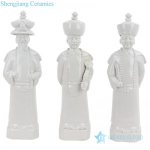 China Qing dynasty 3 emperors figurine decoration
