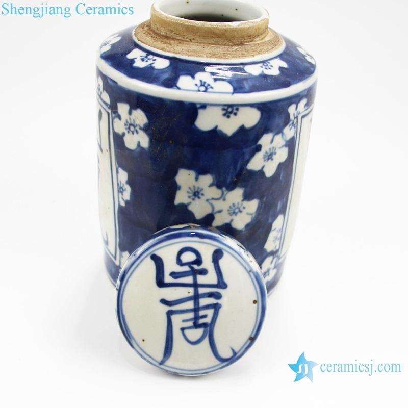 Chinese style storage ceramic tank detail