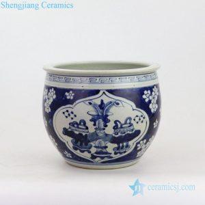 Plum design antique ceramics front view