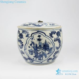 Beautiful chinese style tea canister front view