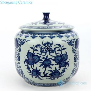Chinese classic hand-painted tea pot front view