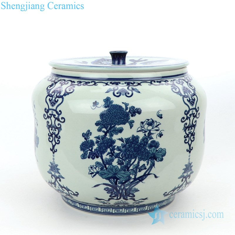 Hand made traditional tea jar front view
