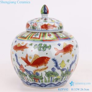 beautiful chinese ancient porcelain pot front view