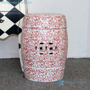 White background Chinese ceramic cool stool