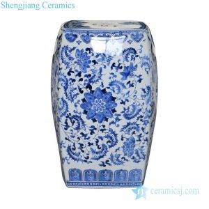 Jingdezhen blue and white stool drum