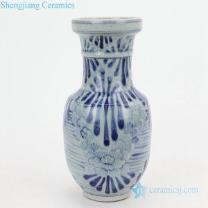 Flower pattern color glaze ceramic vase