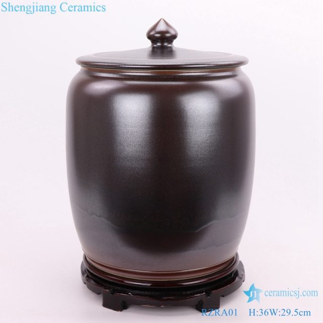 storage canisters under glaze color front view