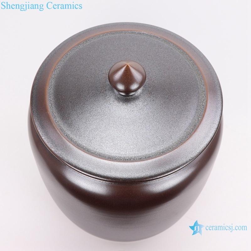 Color glaze tea glaze storage tank top view