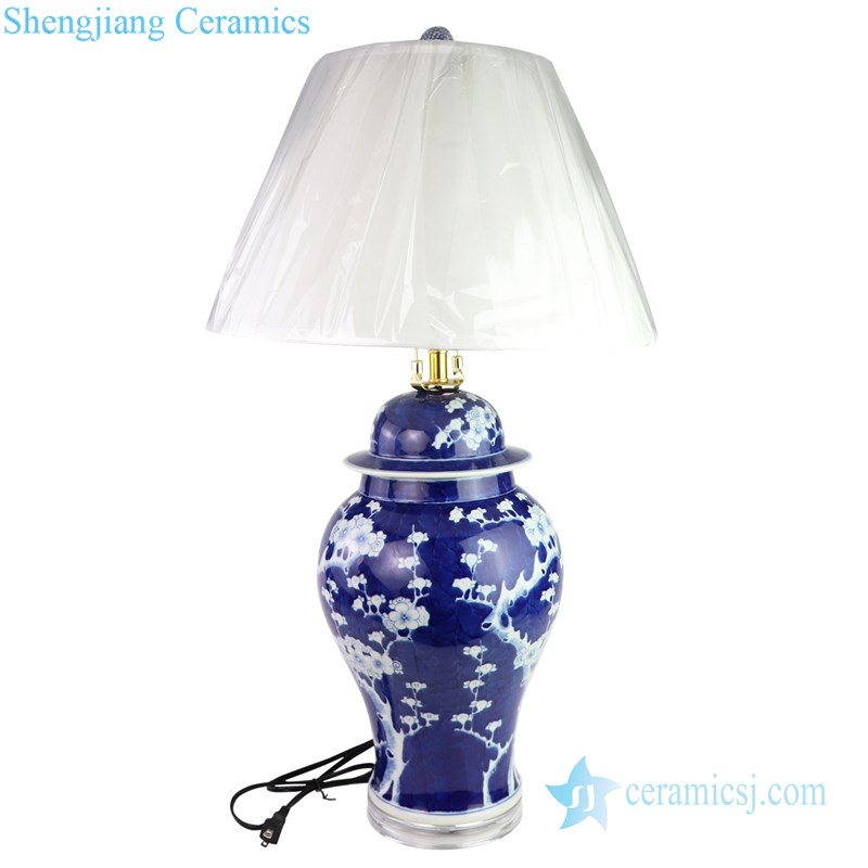 hand painted ceramic lamp