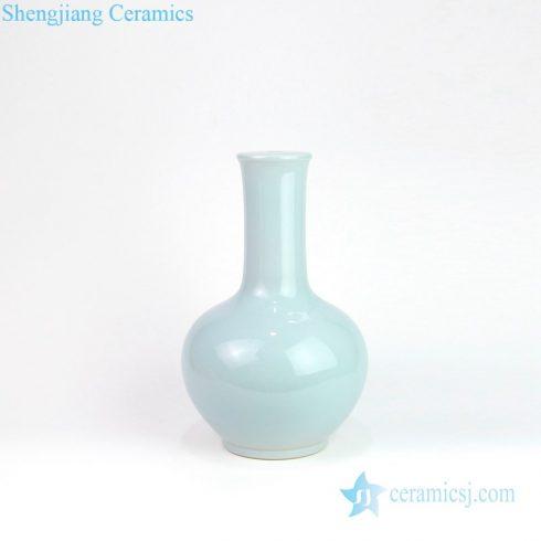 Light blue classic vase shape lamp front view