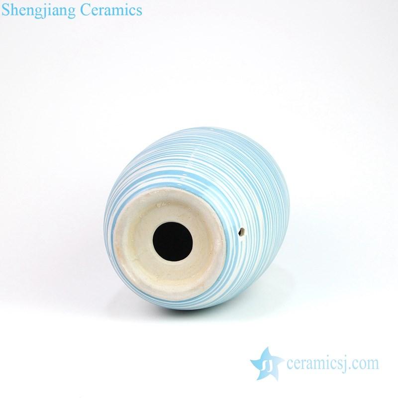 Pure and fresh handmade ceramic lamp bottom
