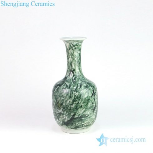 Beautiful green grain design ceramic chimney