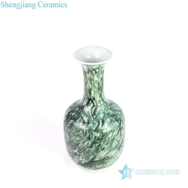 Beautiful green grain design ceramic chimney
