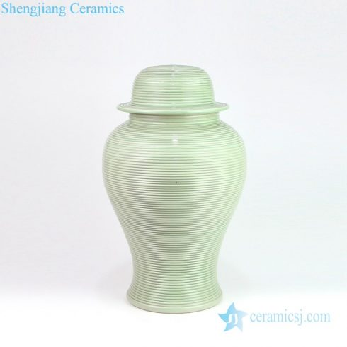 Bean green circular jar shape lamp shade