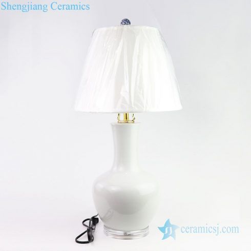 Plain color beautiful ceramic lamp front view