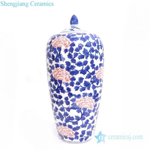 high skill blue and white ceramic jar