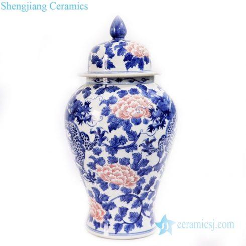 ancient polychrome ceramic jar