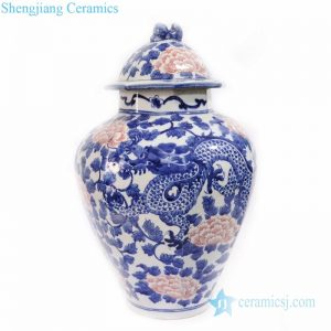 traditional underglaze red ceramic jar