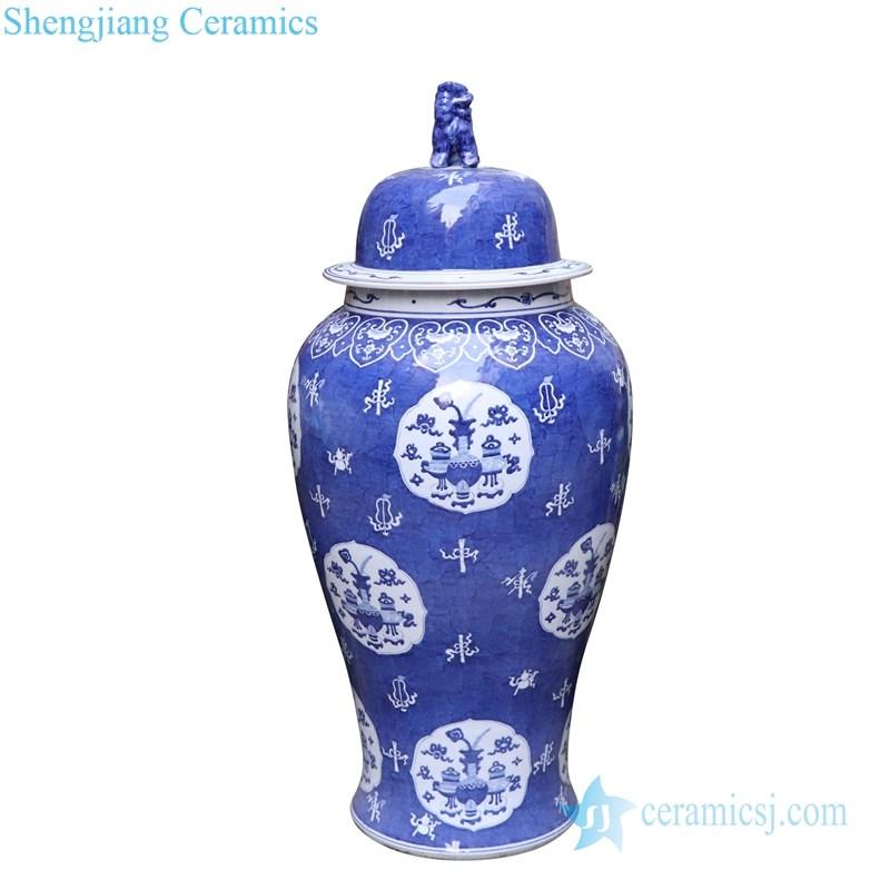 ancient covered storage ceramic jar