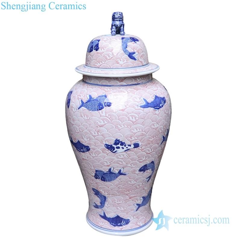 high quality ceramic covered storage jar