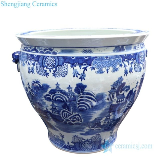 traditional goldfish bowl with two handles