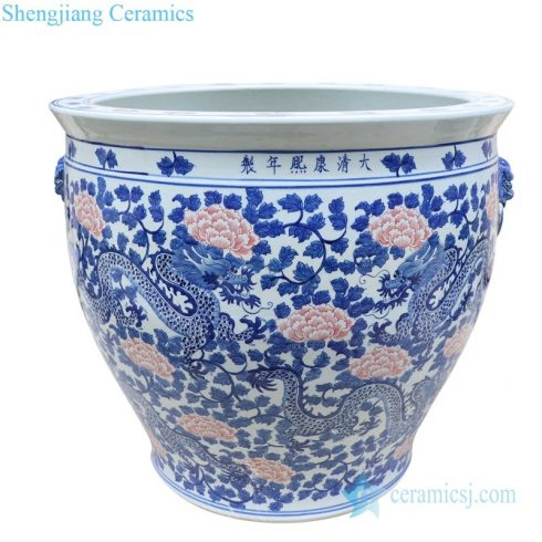 high quality underglaze red ceramic jar