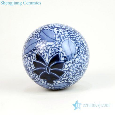 Chinese porcelain ball aquarium adornment