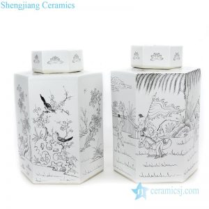 high quality white ceramic tea jar