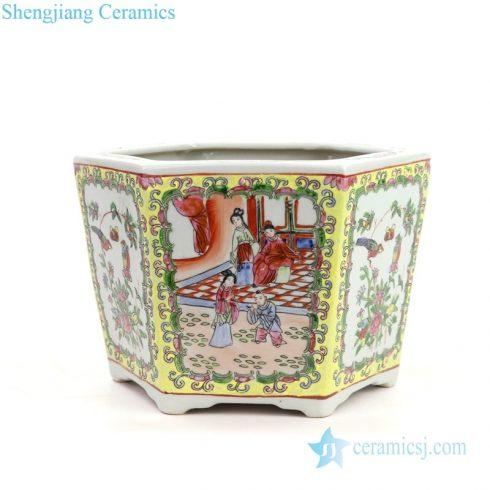 ancient polychrome flower pot