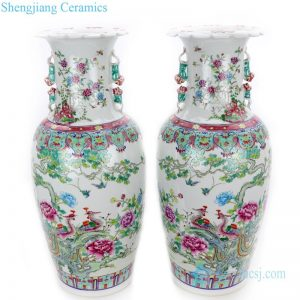 multicolor beautiful pattern ceramic vase
