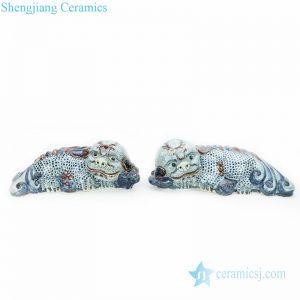 chinese ancient brave animal shape figurine