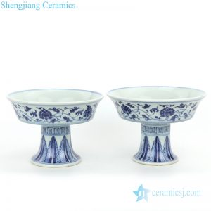 traditional blue and white ceramic plate