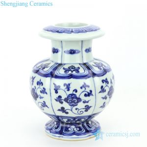 classical ceramic with hand painted pattern vase