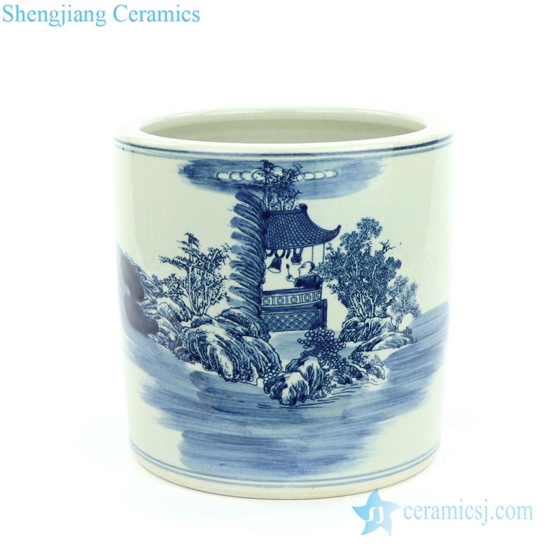 tolling monk porcelain vase