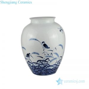 jingdezhen hand-painted ceramic vases front view
