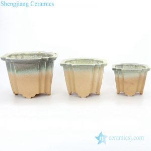 Classic gradient simple ceramic pot three size