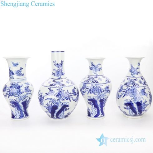 artistic blue and white porcelain vase