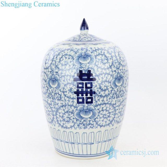 ancient hand painted ceramic jar