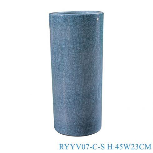 RYYV07-C-S Chinese handmade enamel blue decorative ceramic vases
