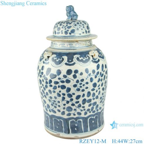 RZEY12-M Chinese handmade Blue and white porcelain general pots flower design