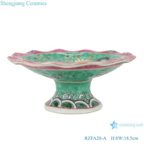 RZFA20-A Chinese handmade Powder enamel porcelain tray fruit tray