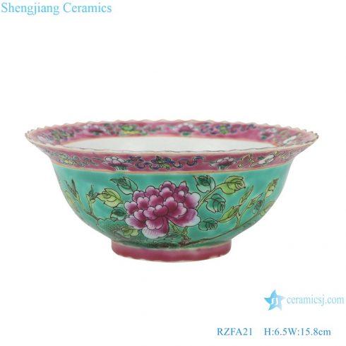 RZFA21 Chinese handmade porcelain powder enamel bowl