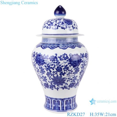 RZKD27 Chinese blue and white porcelain general pot pattern jars