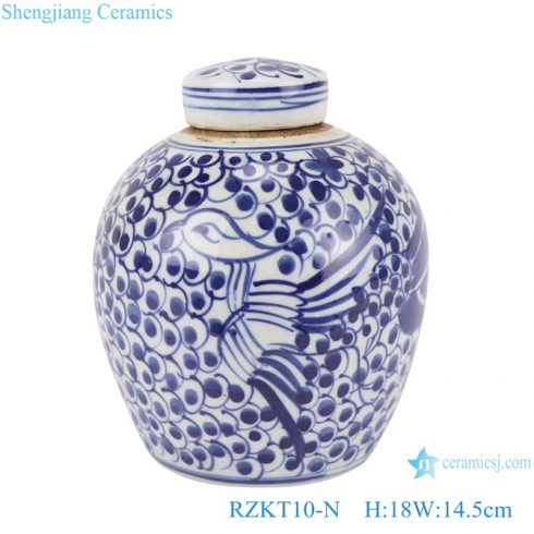 RZKT10-N Chinese blue and white twig multi-pattern ceramic pots